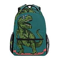 School Backpack Skateboard Dinosaur Teens Girls Boys Schoolbag Travel Bag