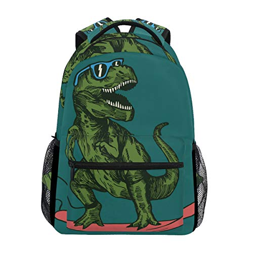 School Backpack Skateboard Dinosaur Teens Girls Boys Schoolbag Travel Bag (Backpack Girl Skateboard)