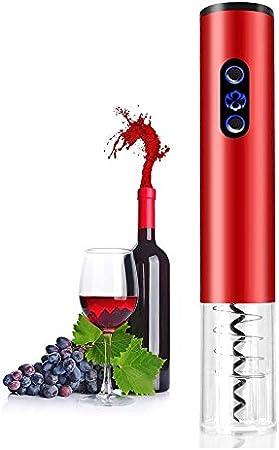 YFGQBCP Eléctrica de vino abrebotellas, abrelatas del vino de acero inoxidable profesional sin cuerda automático Sacacorchos con papel de corte y vacío tapón for el hogar, Bodega, Fiesta, Bar y como r