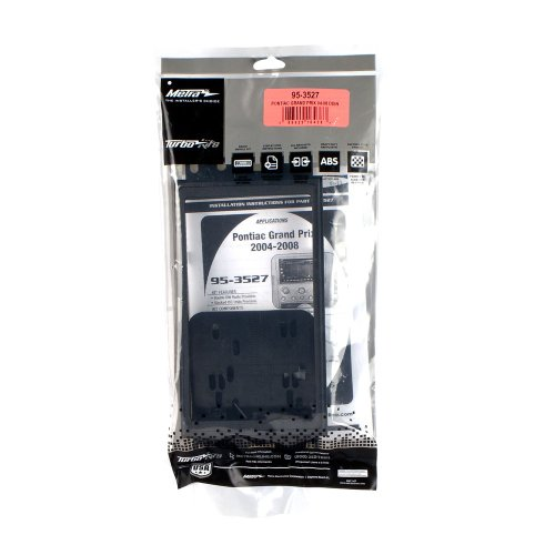 Metra 95-3527 Double DIN Installation Dash Kit for 2004-up Pontiac Grand Prix Vehicles (Black)