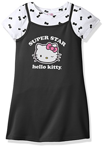 Hello Kitty Big Girls' 2 Piece Dress Set with Printed Tee, B