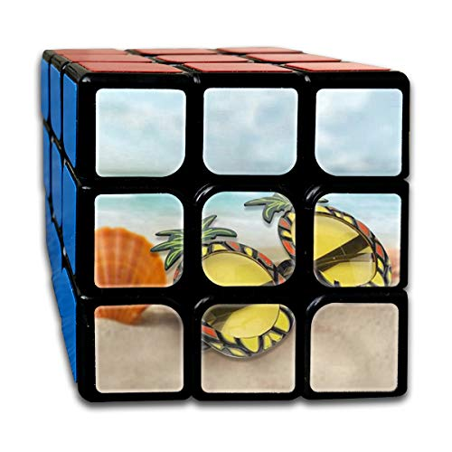 Rubiks Cube Pineapple In Sunglasses Personalized 3 x 3 Magic Cube For Boys Intelligence Toy (Sticker)