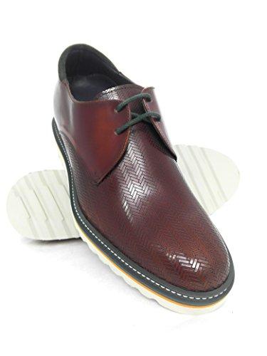 Respirant Augmentation Réhaussantes pour Zerimar Chaussures Cuir 7 cm Messieurs Confortable Natural Caoba naznIq