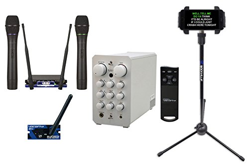 Vocopro Casaman-Wireless Powered Karaoke Mixer/Amplifier w/Bluetooth/USB+2) Mics