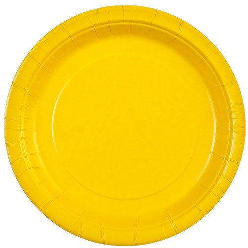 Party Dimensions 9-Inch Paper Plate, 20-Count, Sunshine Yellow 70992