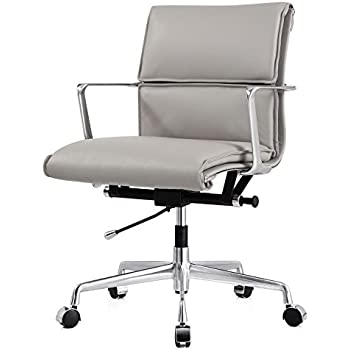 MEELANO M347 Office Chair in Italian Leather  GreyAmazon com  MEELANO 310 BLK Office Chair In Aniline Leather  Black  . Silver Office Chair. Home Design Ideas