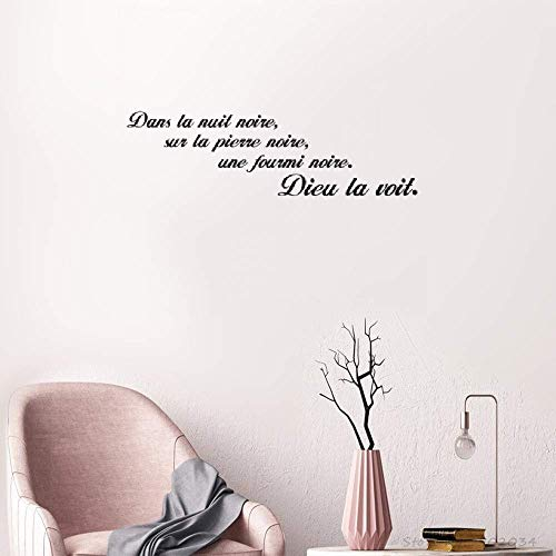 Pieray Quotes Wall Stickers Removable Vinyl Art Decal Dans La Nuit Noire in The Dark -