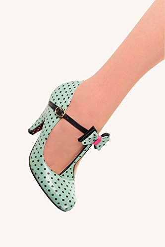 Banned, Mary Jane basse donna Verde Menta 36
