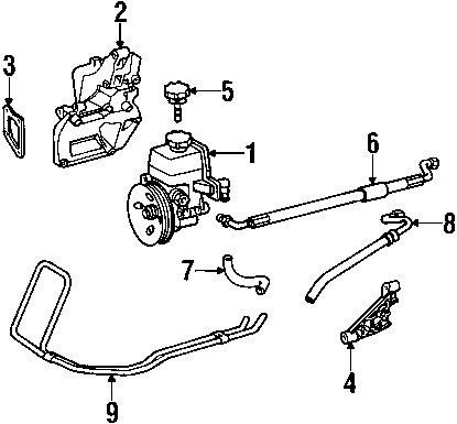 Amazon Com Mercedes Benz 170 997 04 82 Power Steering Return Hose