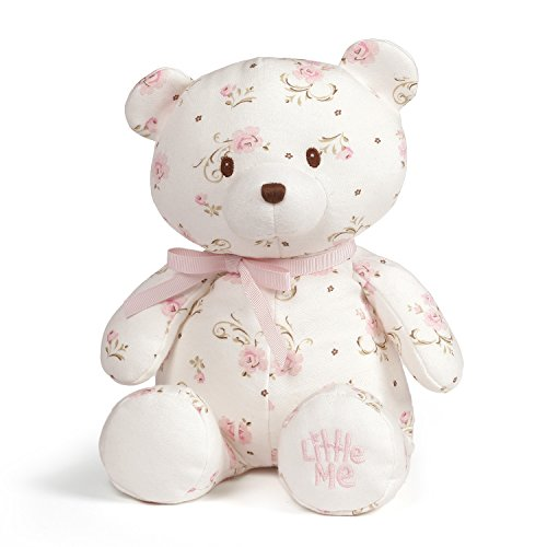Baby GUND x Little Me Vintage Rose Teddy Bear Plush Stuffed Animal, 10