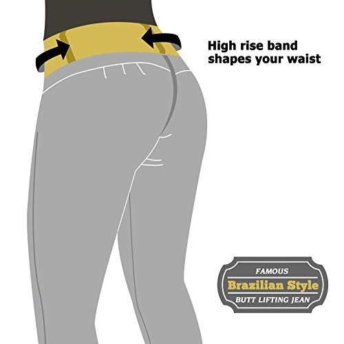 Curvify High Waisted Butt Lifting Slimming Jeans for Women - Skinny Stretch Jean 766(766, Black, 7) by Curvify (Image #7)