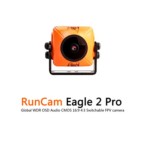 Runcam Eagle 2 Pro Fpv Camera 800Tvl 2 1Mm Fov 170 Dc 5 36V Integrated Mic Global Wdr Osd Audio Cmos 16 9 4 3 Switchable For Racing Drone Multicopter Orange