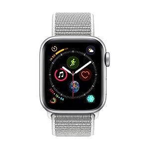 AppleWatch Series4 (GPS, 40mm) – Silver Aluminium Case with Seashell Sport Loop