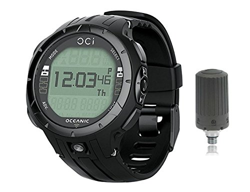 Oceanic OCi Personal Wrist Dive Computer USB With Transmitter, Black Out Personal Nitrox Dive Computer