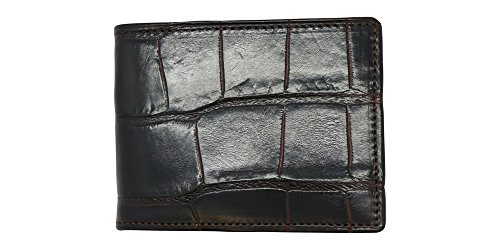Brown Genuine Alligator Millennium Bifold Wallet – Alligator Inside and Out RARE - Factory Direct - Gift Box - Slim Billfold - Black Brown Cognac – Made in USA by Real Leather Creations FBA298 by Real Leather Creations (Image #3)