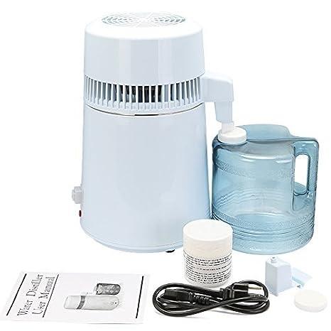 Banpusama Destilador de agua, máquina de fabricación de agua destilada de 4L, purificador de agua destilando máquina de agua pura para uso doméstico