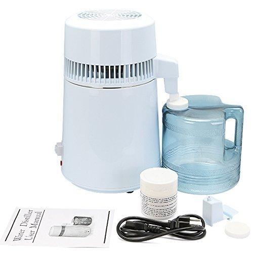 Autovictoria Destilador de agua Purificador Water Distiller Destilador de agua pura Filtros Destilació n de agua 4L de acero inoxidable interno con botella de colecció n