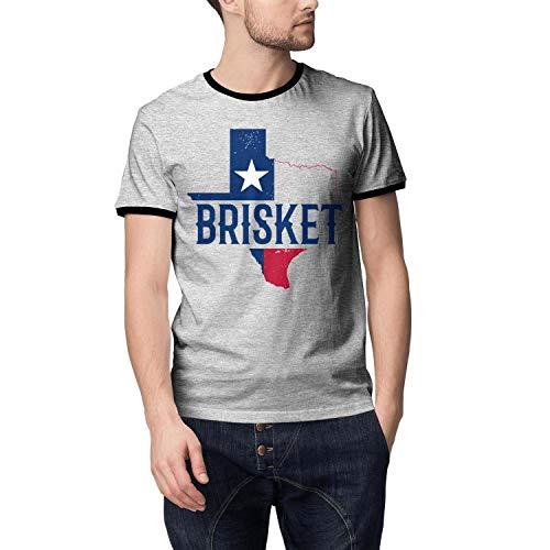Mens New T Shirts Premium Sports Texas Native BBQ Brisket TX Grey Short Sleeve T Shirt