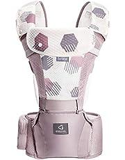 Bebamour Baby Carrier för 0-36 månader, 3D Air Mesh Baby Carrier ryggsäck för nyfödda till småbarn, godkänd av säkerhetsstandard, Ergonomisk baby höftstol 6 i 1 främre bärare