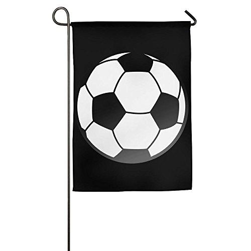 (LLiYing-D Soccer Ball Funny Present Flag)