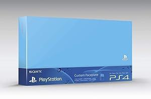 ヘッドセット PLAYSTATION 4 Custom Faceplate Aqua Blue HDD BAY COVER PS4 SONY OFFICIAL