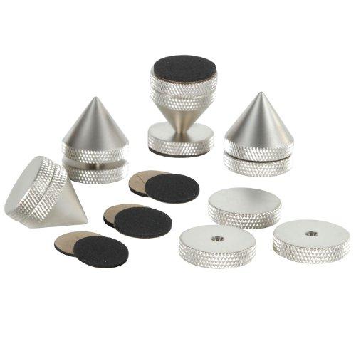- Dayton Audio ISO-4SN Satin Nickel Isolation Cone Set 4 Pcs.