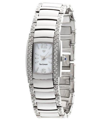 Yves Camani Women's Quartz Watch JULIETTE Crystal Silver YC1035-B YC1035-B with Metal Strap