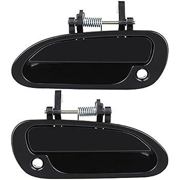 Eccpp 2pcs door handles black exterior front - 2000 honda accord exterior door handle ...