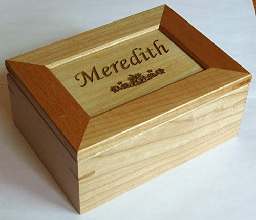 Custom Engraved Wooden Keepsake Box