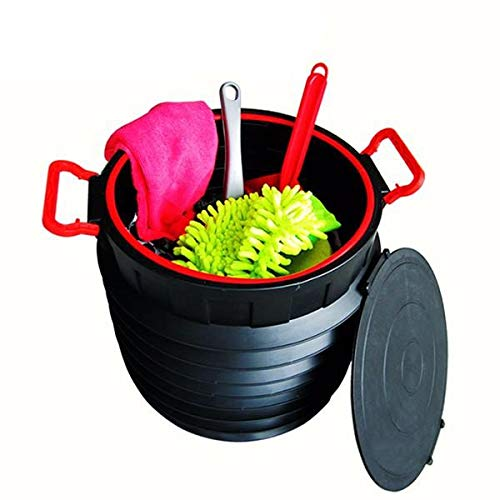 25L Car Storage Box Circular Folding Telescopic Storage Bucket Trash Container Scalable Toolbox Col - Interior Accessories Garbage Cans - 1 X 25L Car storage box