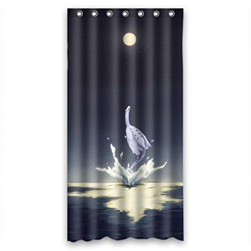"""Anime Cartoon magical white crane Shower Curtain Measure 36""""(w)x72""""(h)"""