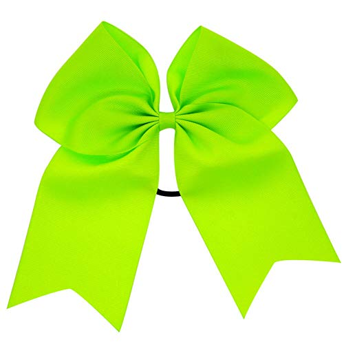 Baby 8 Elastic Lovely Big Ribbon Bowknot Hair Rope Hair Bow Hair Band Accessory (Color - grass green) ()