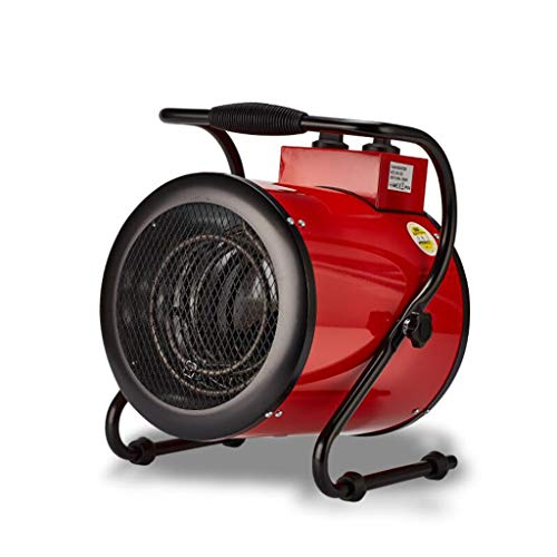 Jlxl 9000w, 3KW Industrial Fan Heater Electric Workshop High Power Hot Air Blower Convenient for Garage SHED Round RED ()