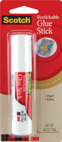(Scotch Glue Stick Restickable Adhesive .49)
