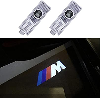 For 2003 2019 Bmw With M Logo Jkcover Cree Led Welcome Lights Ghost Shadow Projector Door Lights 2 Piece