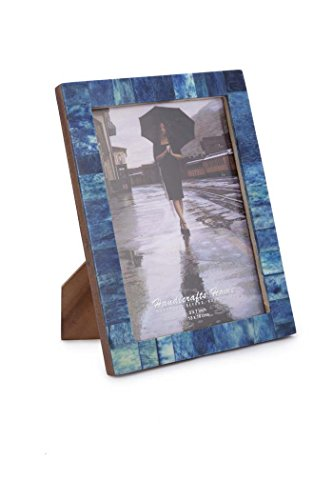 new-real-handmade-black-white-bone-photo-picture-vintage-imported-chic-frame-made-to-display-4x6-5x7