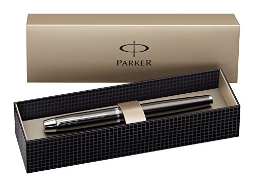 Parker IM Gun Metal CT Fountain-Pen, Chrome Trims, Steel Fine Nib.