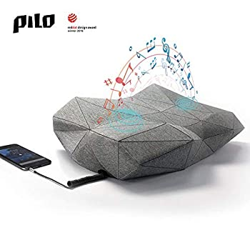 Image of PILO Classic Ergonomic Smart Music Pillow, Orthopedic Contour Neck Pillow of Memory Foam & Bamboo Charcoal, Anti Snore Sound Therapy Pillow with Binaural Speakers, White Noise & Themed Sound Sleep-Aid