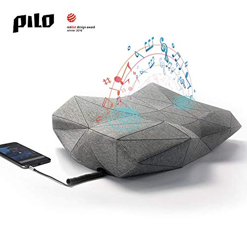 (PILO Classic Ergonomic Smart Music Pillow, Orthopedic Contour Neck Pillow of Memory Foam & Bamboo Charcoal, Anti Snore Sound Therapy Pillow with Binaural Speakers, White Noise & Themed Sound Sleep-Aid)