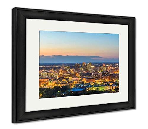 (Ashley Framed Prints Birmingham, Alabama, USA, Wall Art Home Decoration, Color, 30x35 (Frame Size), Black Frame, AG32675324)