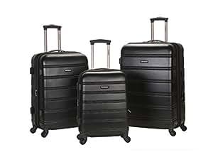 Rockland Luggage Melbourne 3 Piece  Set, Black, Medium