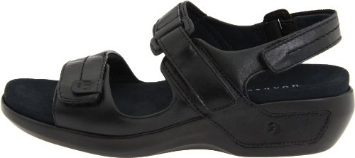 Aravon Womens Katy,Black Leather,6 W (D) US