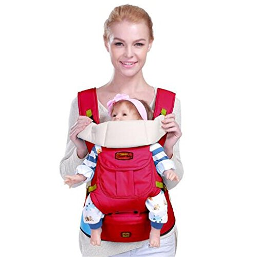 Top Baby Sling Baby Backpack Hip Seat Red - 6