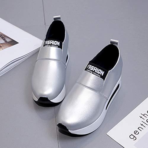 Ginnastica Basse Sunnywill Zeppa Sportive Argento Scarpe Sneakers Da Donna Interna Fitness PqqgtY