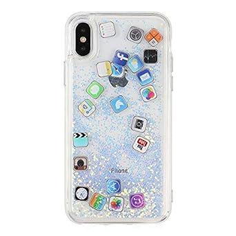 346ff41b46 Amazon.co.jp: iPhone XR ケース キラキラ 創意 流れる ios icon APP ...