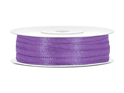 SiDeSo® SATINBAND 50m x 3mm viele Farben Hochzeit Dekoband Geschenkband Antennenband Schleifenband (pink)
