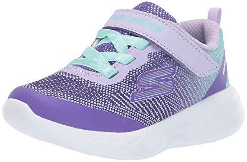 Skechers Kids Girls' GO Run 600-DAZZLE STRIDES Sneaker Lavender/Multi 10 Medium US Toddler ()