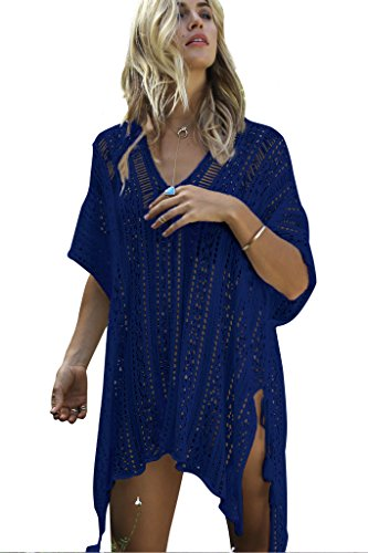 NFASHIONSO Women's Fashion Swimwear Crochet Tunic Cover Up/Beach ()