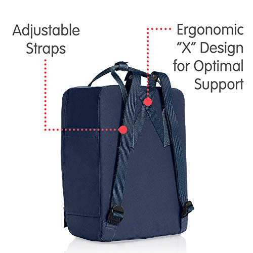 Fjallraven Men's Kanken Backpack, Royal Blue/Pinstripe, One Size by Fjallraven (Image #3)