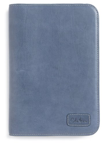 Cole Haan Hand-Stained Pebble Grain Leather Kindle Fire Cover, Blue Pearl (does not fit Kindle Fire HD)